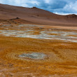 Stock Photo: Desert at Geothermal Area Hverir, Iceland