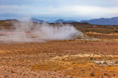 Desert at Geothermal Area Hverir, Iceland — Stock Photo