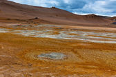 Desert at Geothermal Area Hverir, Iceland — Stock Photo