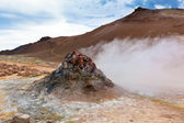 Hot Geothermal Area Hverir, Iceland — Stock Photo