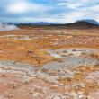 Stock Photo: Stone Desert at Geothermal Area Hverir, Iceland