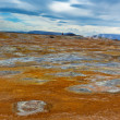Hot Mud Pots in Geothermal AreHverir, Iceland — Stock Photo #41540203