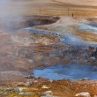 Hot Mud Pots in the Geothermal Area Hverir, Iceland — Stock Photo