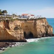 Seaside village on a cliff overlooking the ocean in Portugal — Stock Photo
