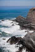 Costa ocidental do oceano de portugal — Foto Stock