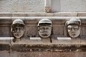 Stone heads at Cathedral of St. James in Sibenik, Croatia — Zdjęcie stockowe