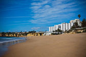 Spain Landscape with Hotel and Sand Beach — Stock Photo