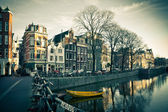 Amsterdam Canal Street view — Photo
