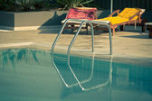 Ladder of a swimming pool — Stock Photo