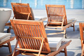 Hotel Poolside Chairs — Stock Photo
