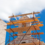 Church Restoration Scaffolding — Stock Photo