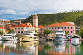 Skradin is a small historic town in Croatia — Stock Photo