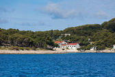 Croatian coastline view from the sea — Stock Photo