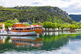 Touristic boat in Skradin, Croatia — 图库照片