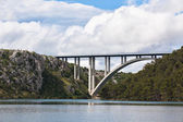 Concrete Bridge over Sea Bay — Stock Photo