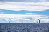 Yacht Regatta at Adriatic Sea — Foto Stock