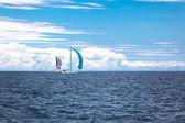 Regata iate no mar adriático em tempo ventoso — Foto Stock