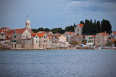Village Sepurine, Prvic island, view from the sea — Stock Photo