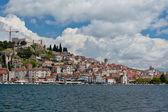 Sibenik, Croatia view from the sea — Stock Photo