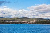 Sibenik bay, Croatia view from the sea — Stock Photo