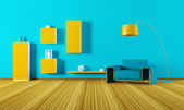 Interior of living room 3d render — Stock Photo