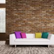 Modern interior with sofa 3d render — Stock Photo