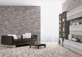 Interior of modern living room 3d — Stock Photo