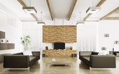 Interni del salotto moderno — Foto Stock