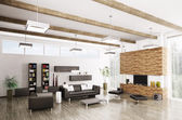 Interior of modern living room — Stock Photo
