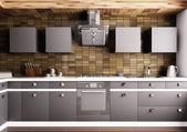 Modern kitchen interior 3d — Stock Photo