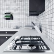 Stock Photo: Kitchen worktop with gas stove
