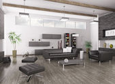 Interior of modern living room — Stockfoto