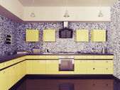 Modern kitchen interior 3d — Foto Stock