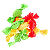 Candy in colored wrapper isolated on white — Stock Photo