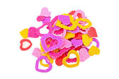Little colorful stickers - hearts — Stock Photo