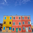Colorful houses taken on Burano island , Venice, Italy — Stock Photo