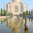 Taj mahal , A famous historical monument on India — Stock Photo