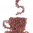 Coffee cup made of beans on white background — Stock Photo #12856983