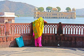 Water Palace (Jal Mahal) in Man Sagar Lake. Jaipur, — Stock Photo