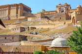 Beautiful Amber Fort near Jaipur city in India. Rajasthan — Stock Photo