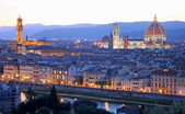 Florence (Firenze) skyline with Palazzo Vecchio and Duomo , Tuscany, Italy — Stock Photo