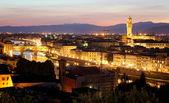 Florence (Firenze) skyline with Palazzo Vecchio and Duomo , Tuscany, Italy — Stock Photo