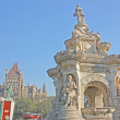 :Flora Fountain and Oriental Building on famous piazza in Bombay ( Mumbai ),India, Asia — Stock Photo #13133680