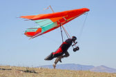Hang gliding in Crimea — Stockfoto