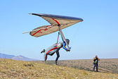 Hang gliding in Crimea — 图库照片