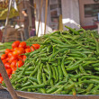 Various vegetables at vegetable market. India — Stock Photo