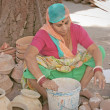 Indian street seller taken in Jodhpur - Stock Photo