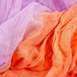Violet and apricot textile abstract wave background  — Stock Photo
