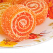 Colorful fruit sugary candies close-up — Stock Photo