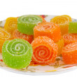 Colorful fruit sugary candies close-up — Stock Photo #13450450